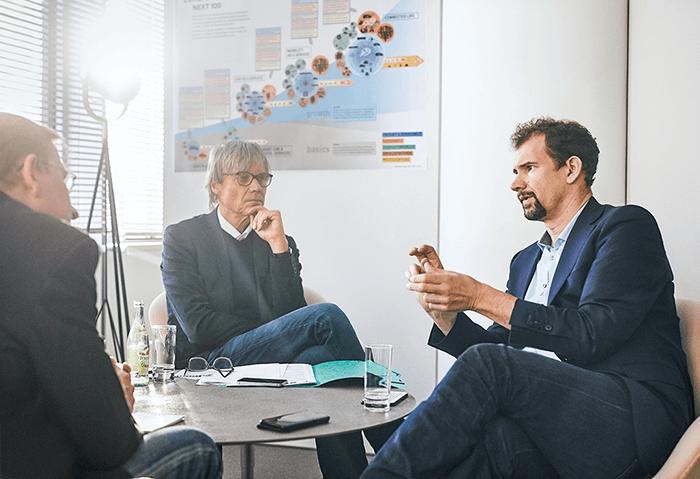 Jens Monsees mit Matthias Ruch und Michael Hopp