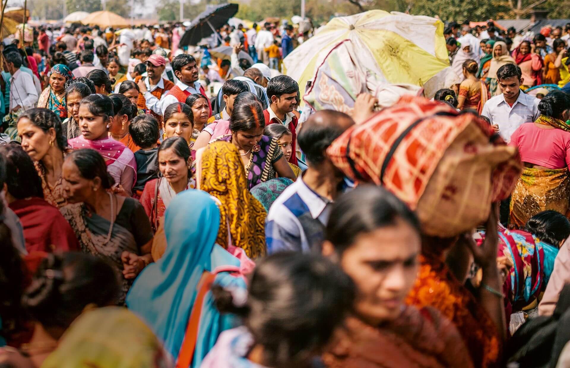Menschenmenge in Indien